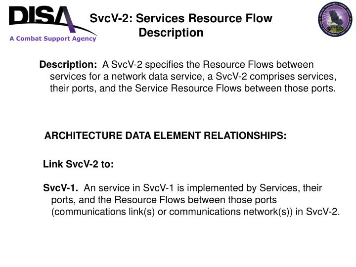 SvcV-2: Services Resource Flow 		              Description