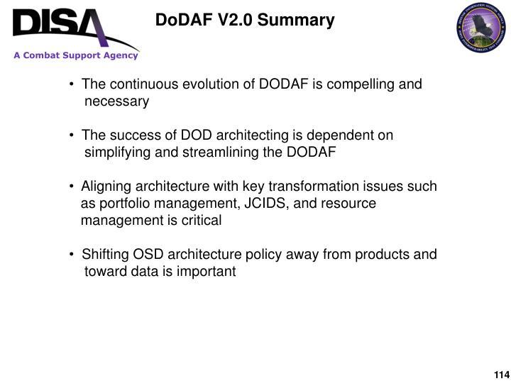 DoDAF V2.0 Summary