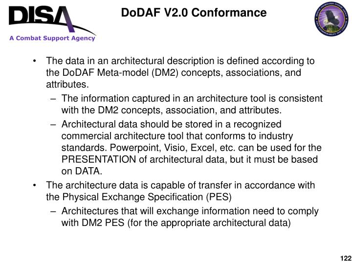 DoDAF V2.0 Conformance