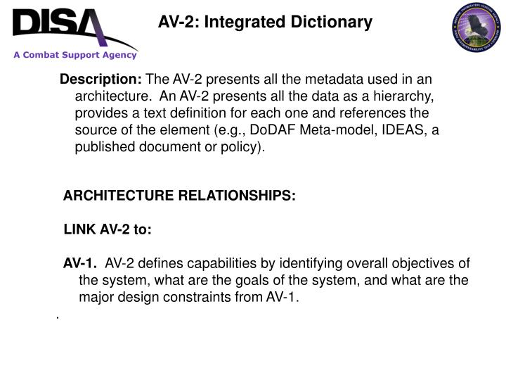 AV-2: Integrated Dictionary