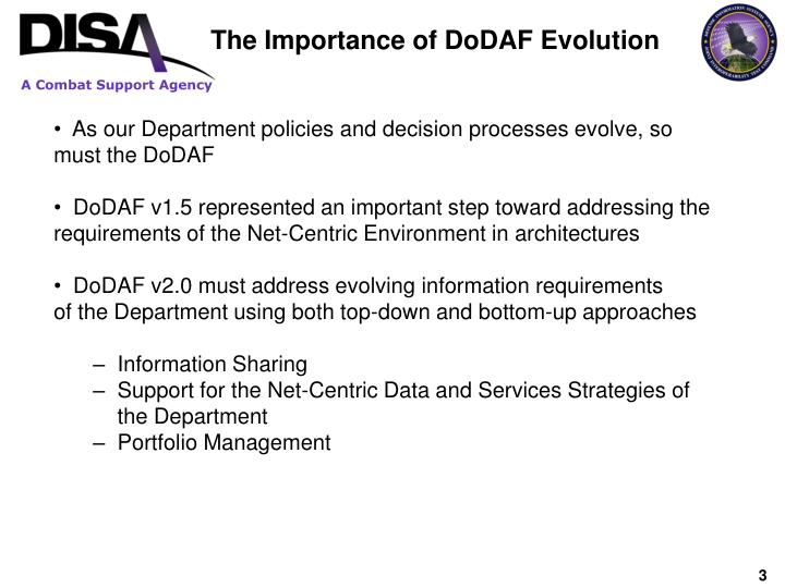 The Importance of DoDAF Evolution