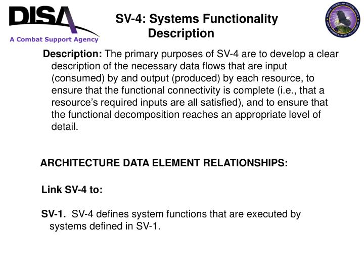 SV-4: Systems Functionality