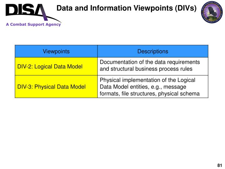 Data and Information Viewpoints (DIVs)