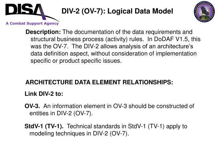 DIV-2 (OV-7): Logical Data Model