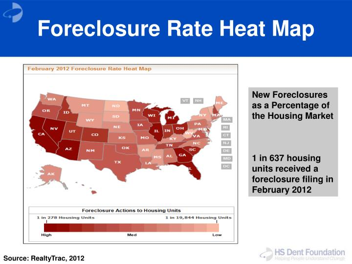 Foreclosure Rate Heat Map