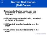 normal distribution bell curve