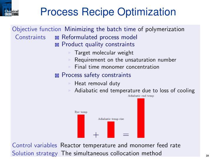 Process Recipe Optimization