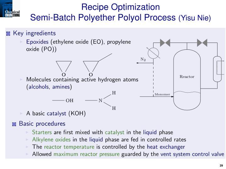 Recipe Optimization