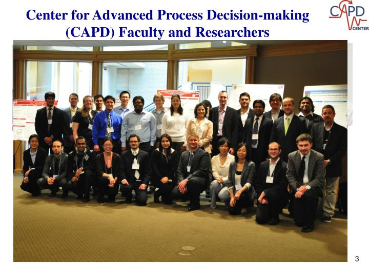 Center for Advanced Process Decision-making