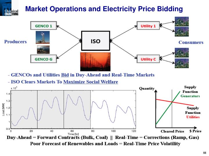 Market Operations and Electricity Price Bidding