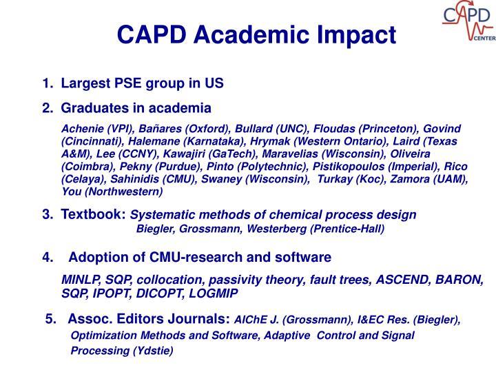 CAPD Academic Impact