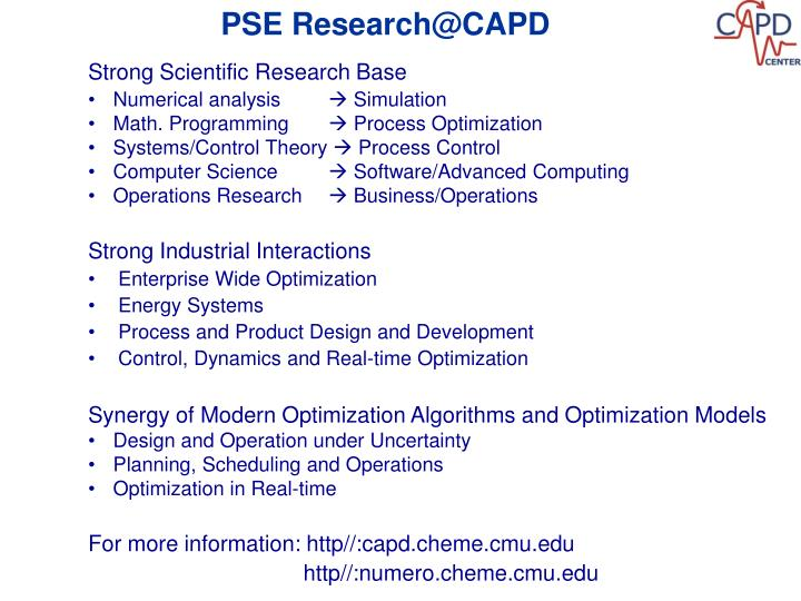 PSE Research@CAPD