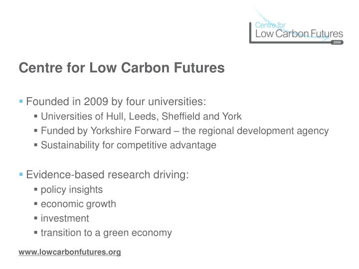 Centre for low carbon futures