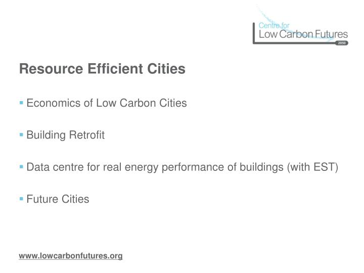 Resource Efficient Cities