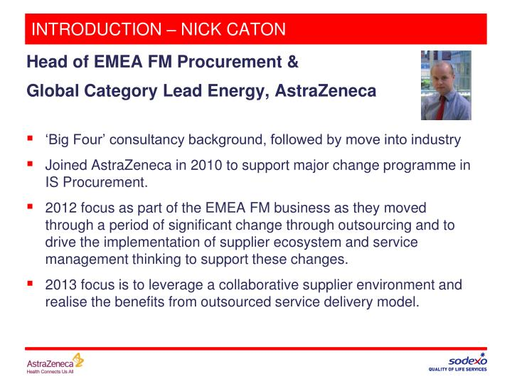 Introduction nick caton