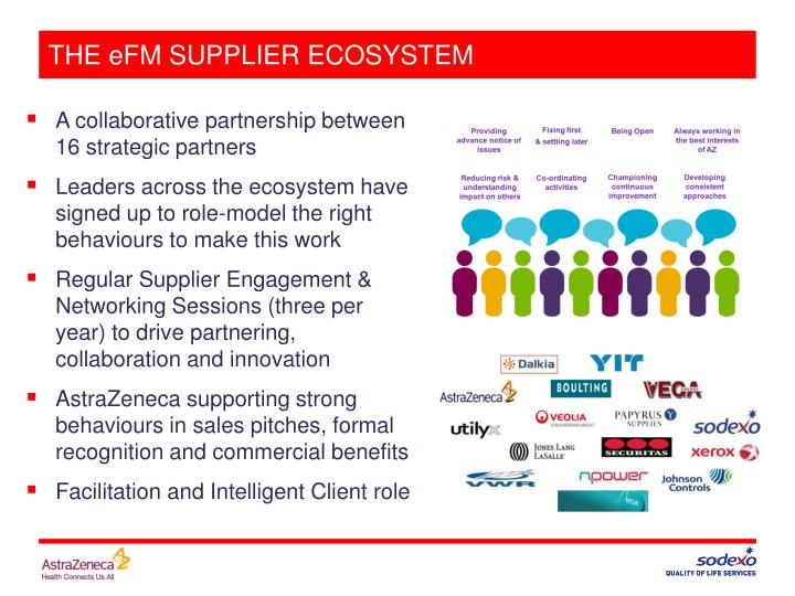 THE eFM SUPPLIER ECOSYSTEM