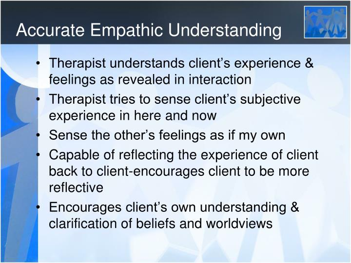 Accurate Empathic Understanding