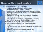 cognitive behavioral leaders