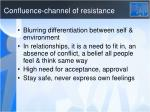 confluence channel of resistance