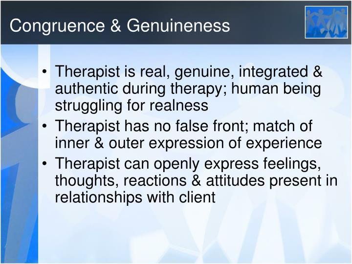 Congruence & Genuineness