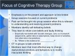 focus of cognitive therapy group