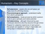 humanism key concepts