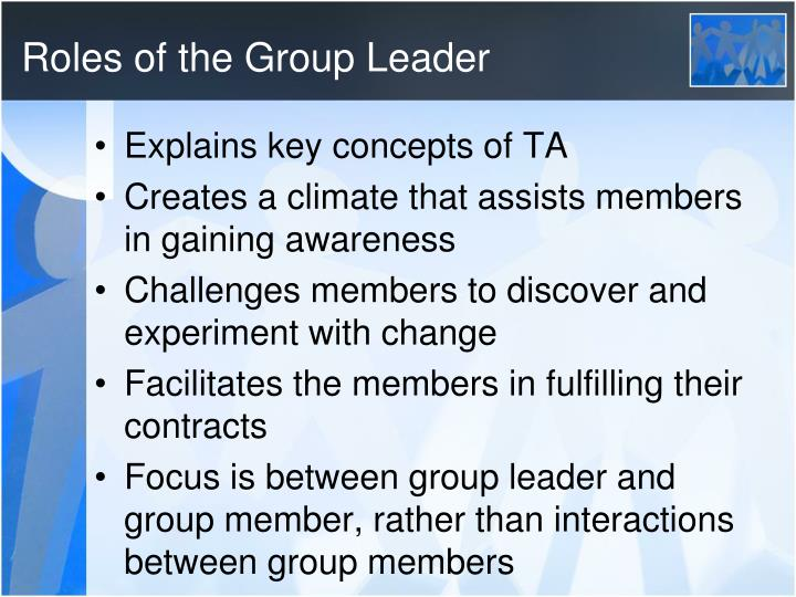 Roles of the Group Leader