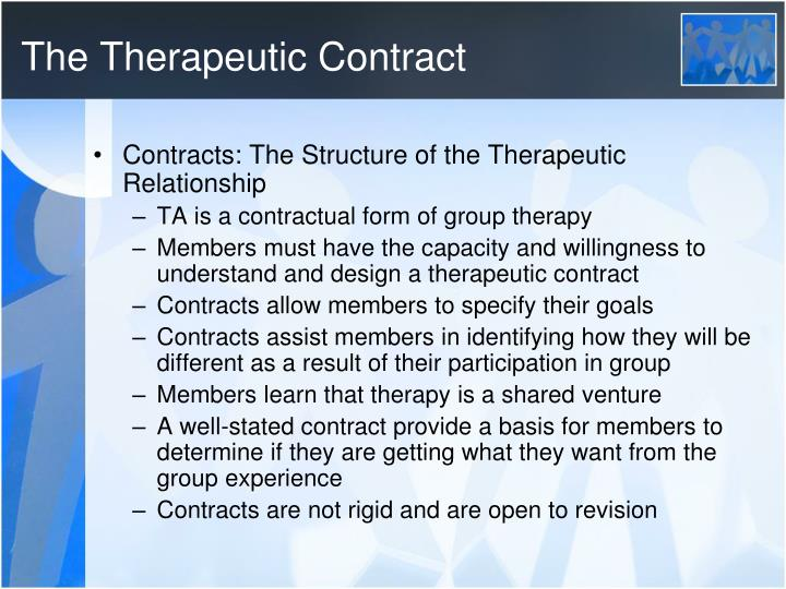 The Therapeutic Contract