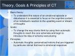 theory goals principles of ct