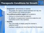 therapeutic conditions for growth