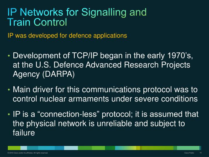 IP Networks for Signalling and