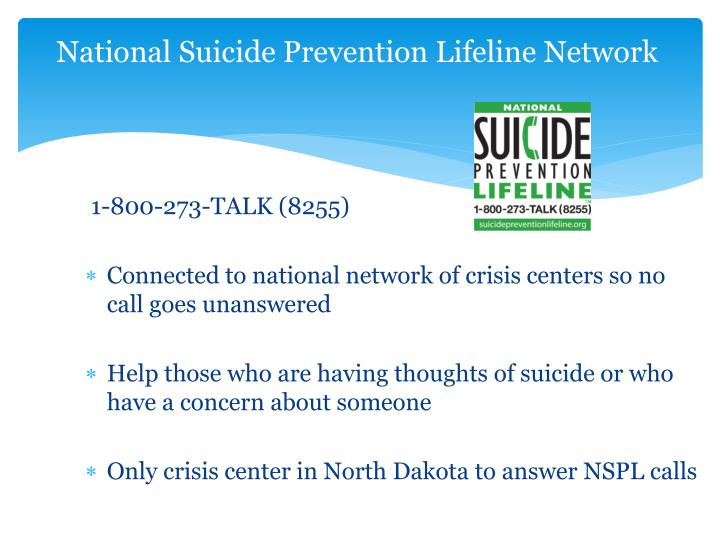National Suicide Prevention Lifeline Network