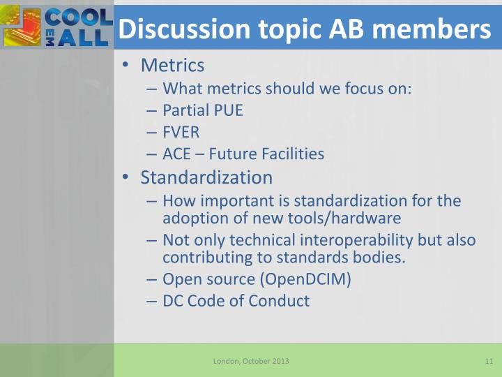 Discussion topic AB members