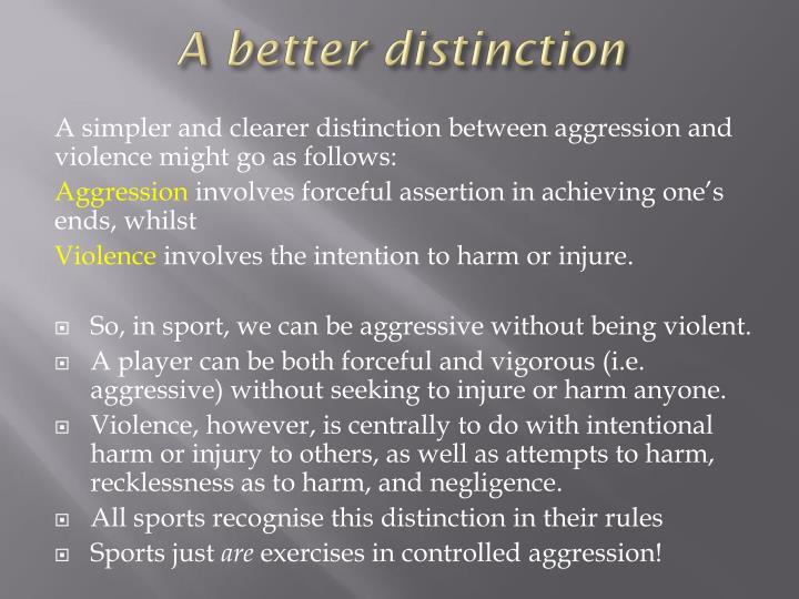 A better distinction