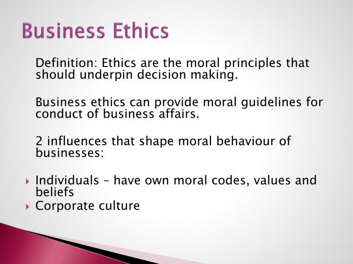 Business Ethics
