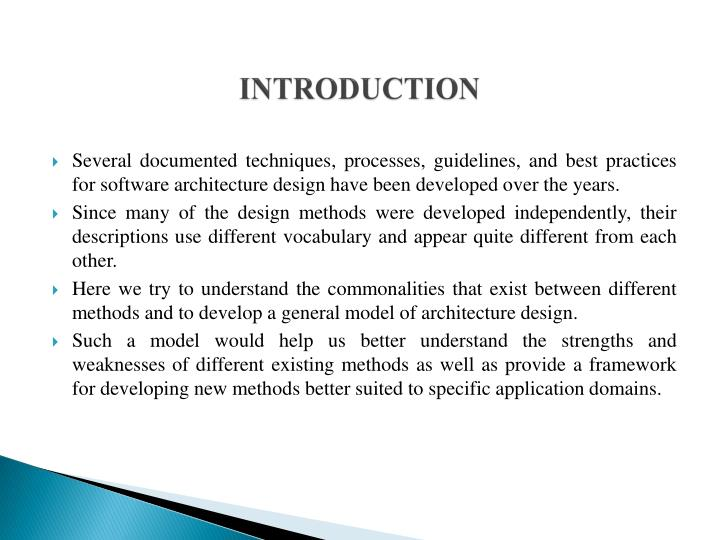 PPT General model of software architecture design derived from