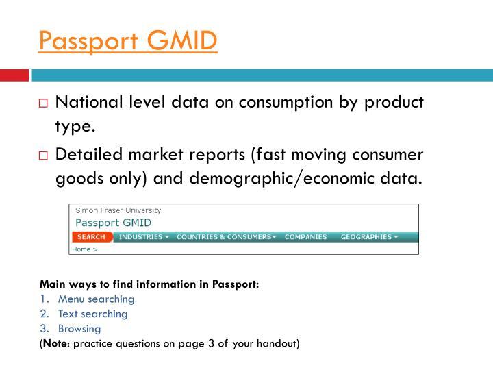 Passport GMID