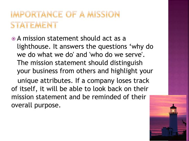 Ppt  Develop Company Mission Statement Goals  Objectives