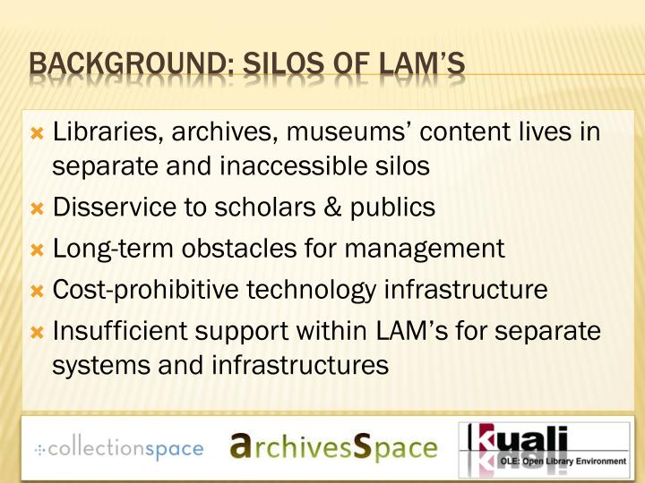 Libraries, archives, museums' content lives in separate and inaccessible silos