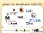 kuali ole collaboration and connection