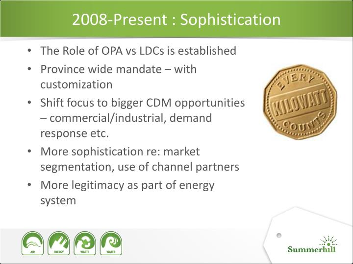 2008-Present : Sophistication