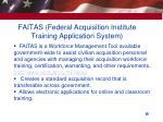 faitas federal acquisition institute training application system