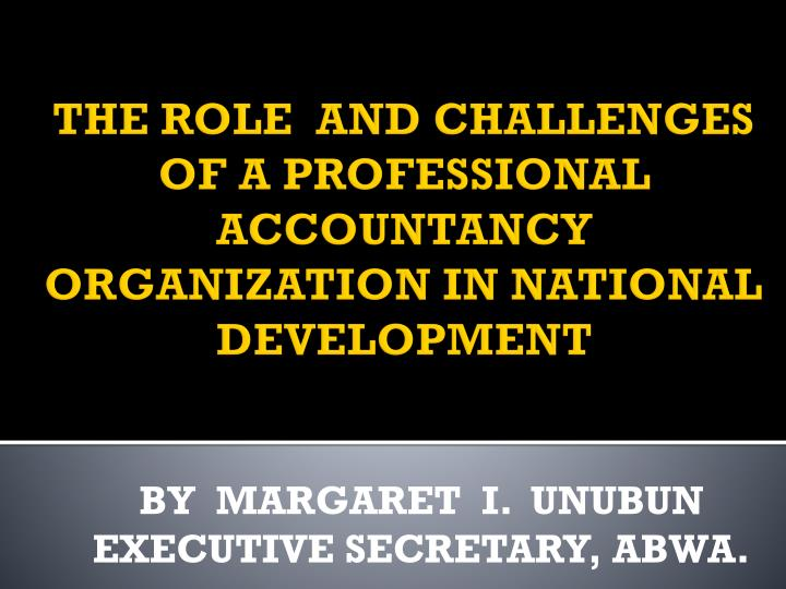 the role of accounting in national development