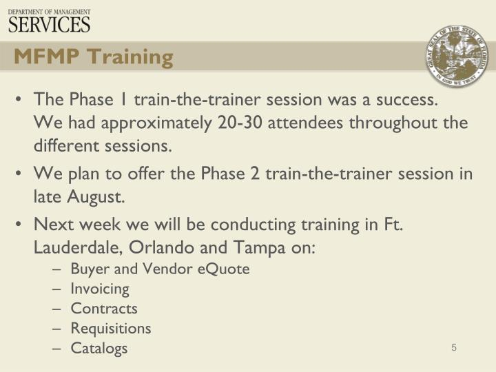 MFMP Training