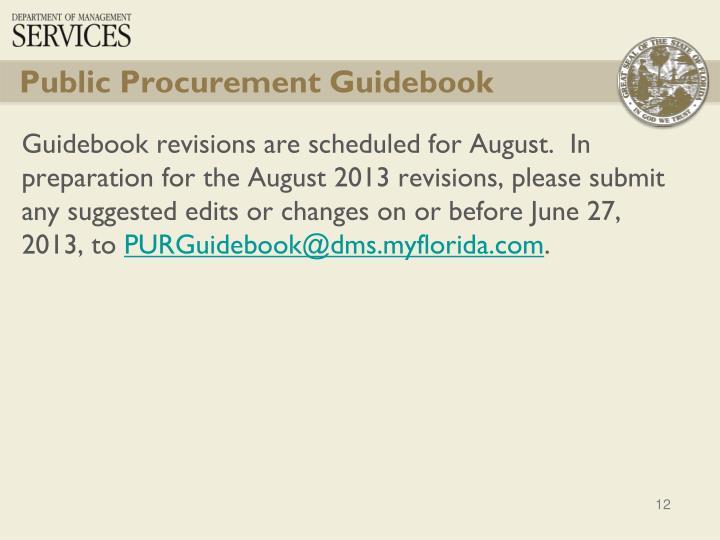 Public Procurement Guidebook