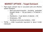 market uptake target outreach