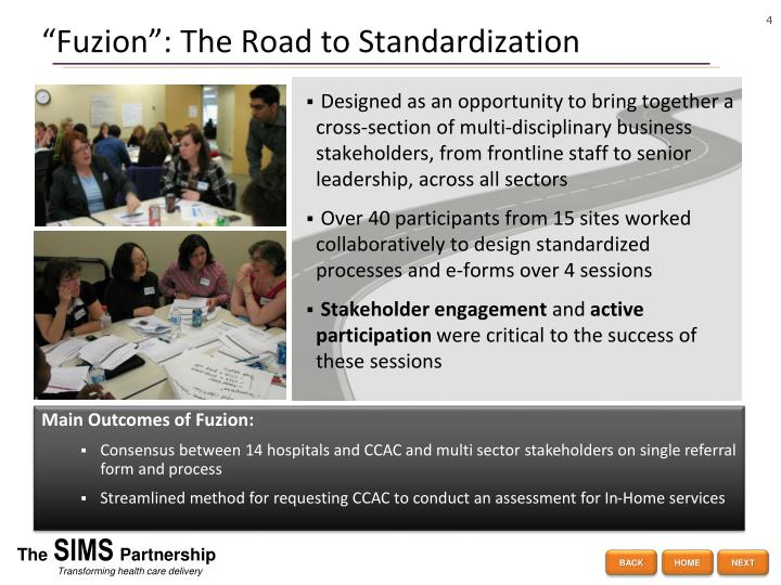 """Fuzion"": The Road to Standardization"