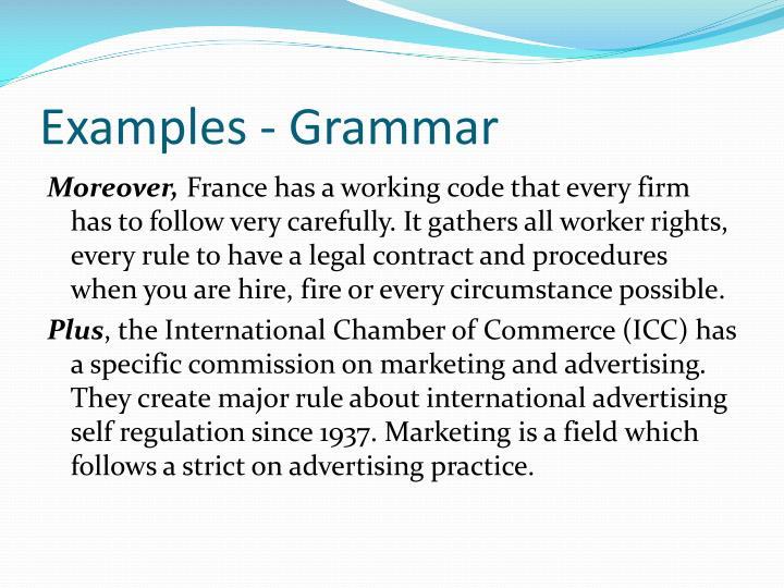 Examples - Grammar