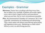 examples grammar