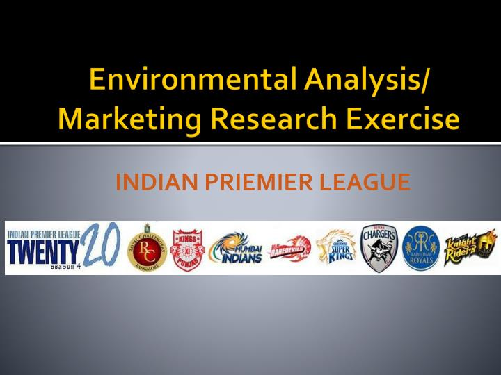 Environmental Analysis/ Marketing Research Exercise